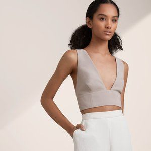 Aritzia Wilfred Gerland Cropped Top in Taupe